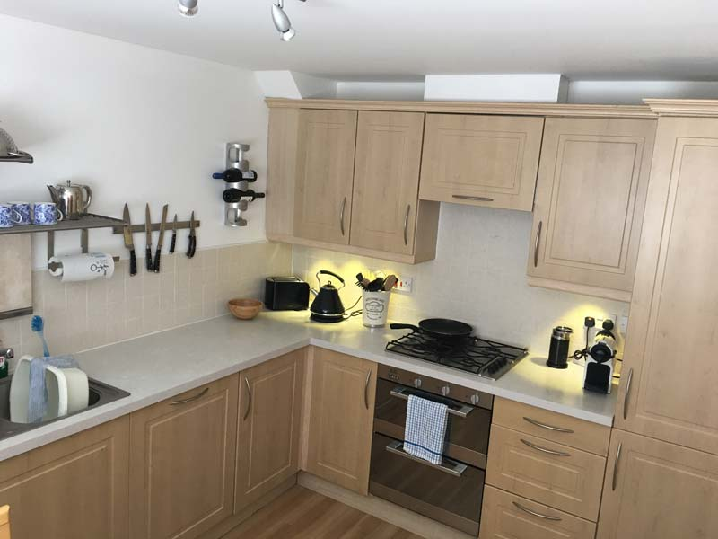 Kitchen at 3 Marine Parade - self-catering by the River Tay
