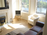 Lounge at River Chambers - self-catering by the River Tay