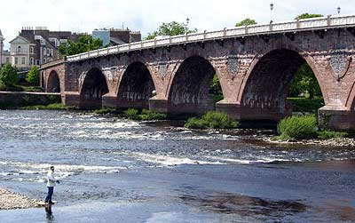 Salmon fishing on the River Tay  outside self-catering by the River Tay